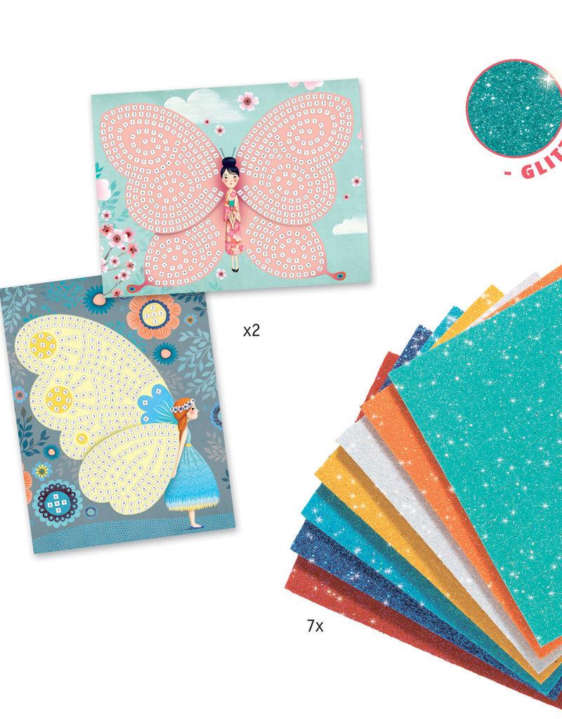 DJECO Petit Mosaics Kit Butterflies