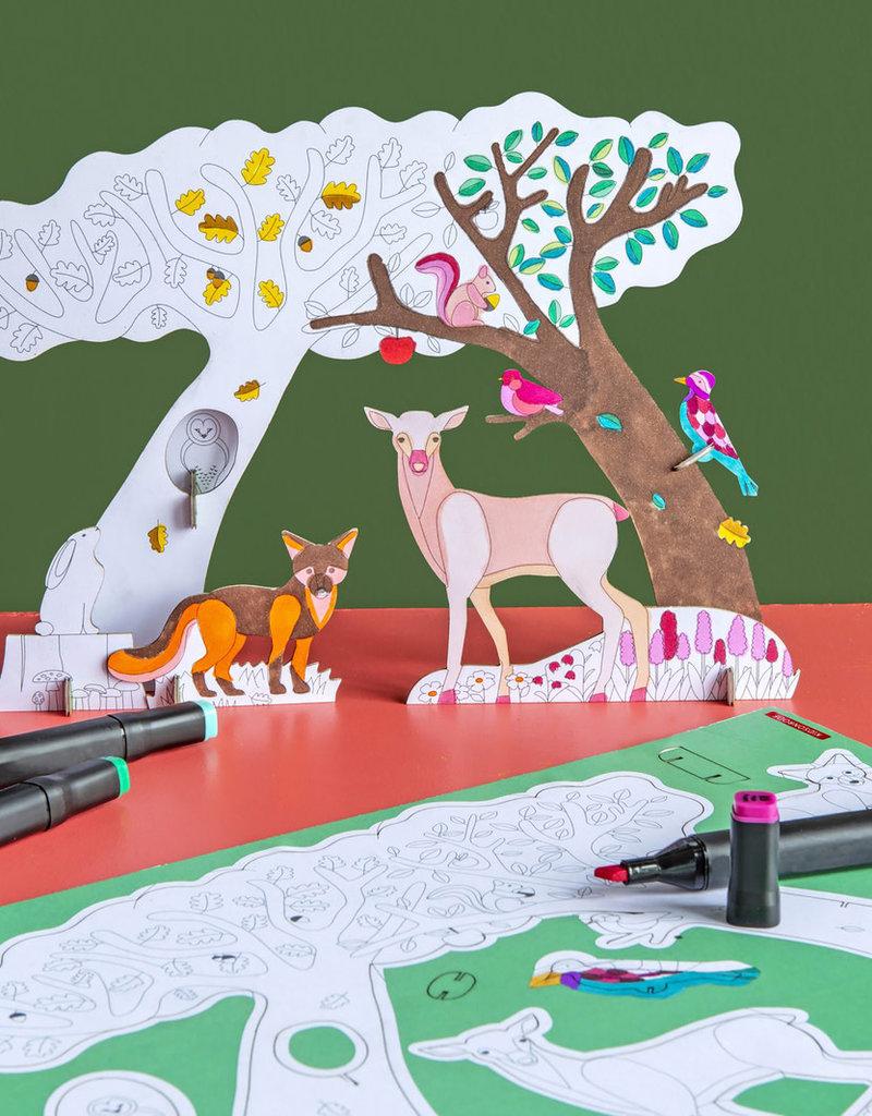 Studio Roof Animal Scenes Forest Story