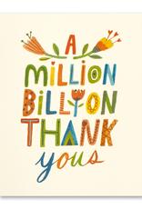 Compendium Inc. Card Million Billion Thank You's
