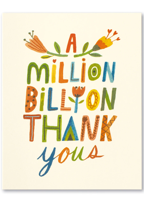 Compendium Inc. Card Million Billion Thank You's