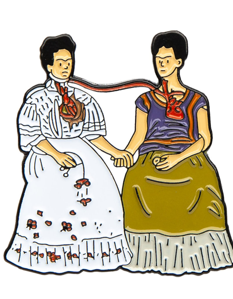 Today is Art Day Art History Enamel Pin Two Fridas
