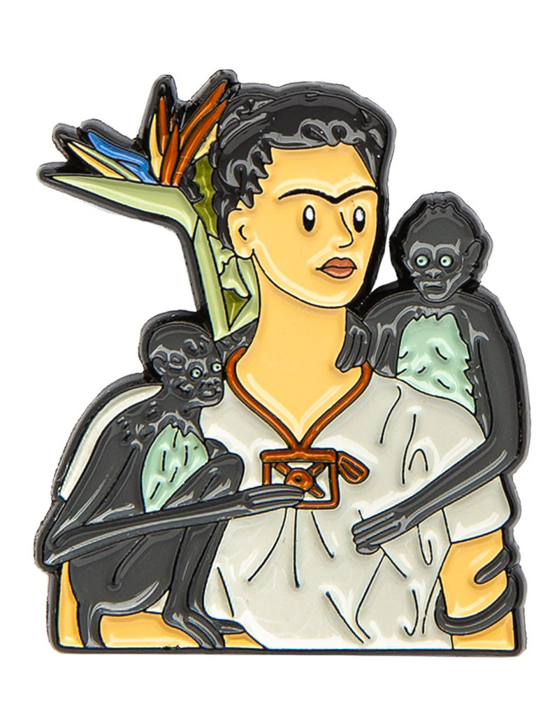 Today is Art Day Art History Enamel Pin Frida with Monkeys