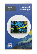 Today is Art Day Art History Enamel Pin Starry Night