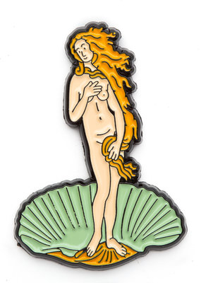 Today is Art Day Art History Enamel Pin Birth of Venus