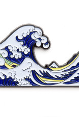 Today is Art Day Art History Enamel Pin Great Wave