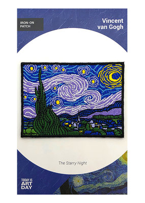 Today is Art Day Art History Iron On Patch Starry Night