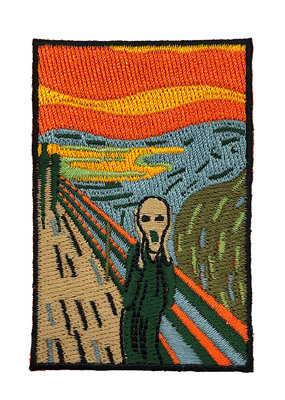 Today is Art Day Art History Iron On Patch The Scream
