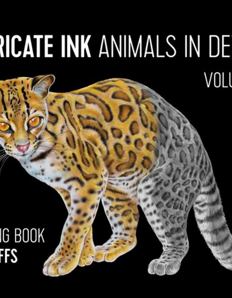 Pomegranate Coloring Book Intricate Ink Animals In Detail 4