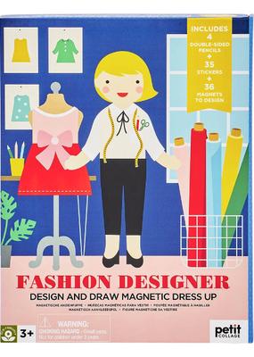 Petit Collage Fashion Designer Magnetic Dress Up Play Set