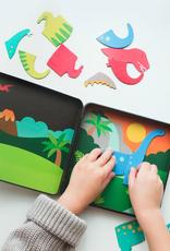 Petit Collage Dinosaur Kingdom  Magnetic Play Set