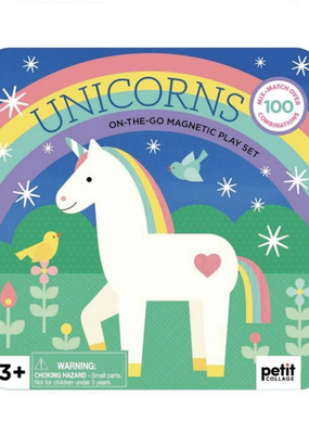 Petit Collage Unicorns  Magnetic Play Set