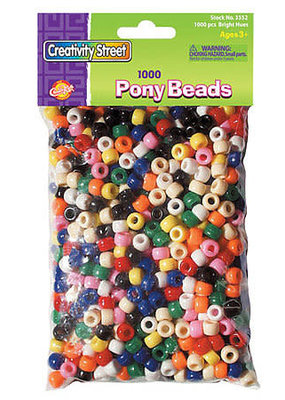 Creativity Street Pony Beads Assorted Colors 1000 Pack