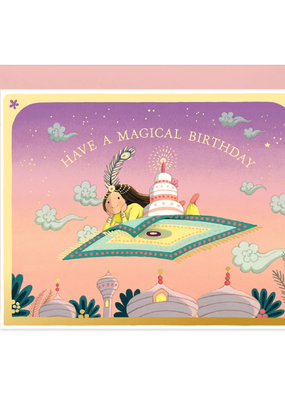 joo joo paper Card Magic Carpet Birthday