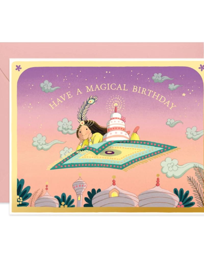 joo joo paper Card Magic Carpet Birthday