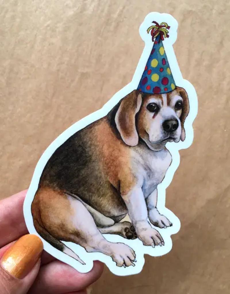 Amy Rose Moore Illustration Sticker Party Beagle Dog