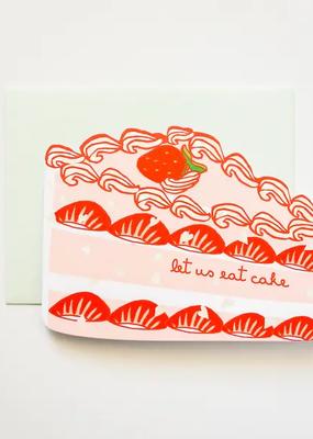Ilootpaperie Card Let Us Eat Cake