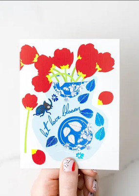 Ilootpaperie Card Let Love Bloom Love