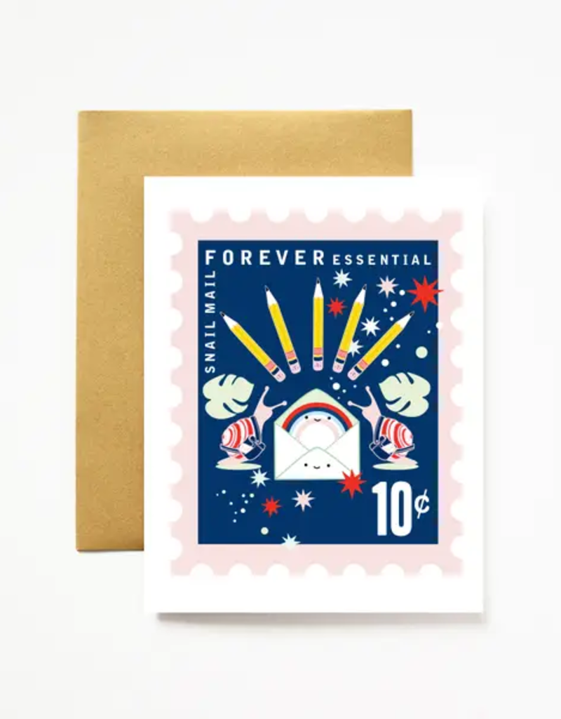 Ilootpaperie Card Snail Mail Forever Essential