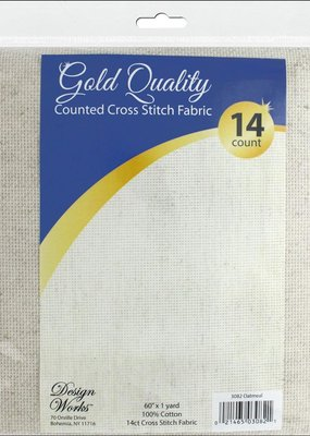 Design Works Crafts Inc. Cross Stitch Fabric 1 Yard 14 count  60 Inches x 1 yard Oatmeal