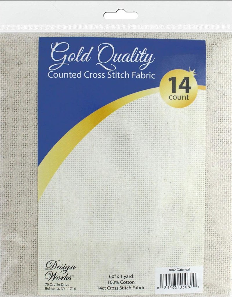 Design Works Crafts Inc. Cross Stitch Fabric 1 Yard 14 count  60 Inches x 1 yard Oatmeal