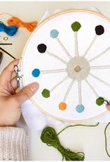 Kikkerland Cross Stitch Clock Kit