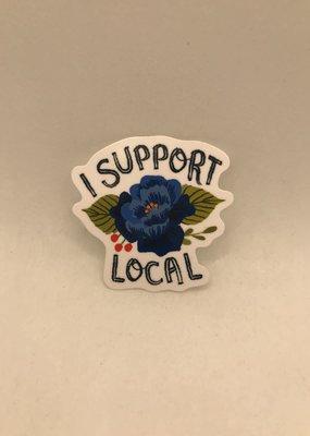 Christa Pierce Sticker I Support Local