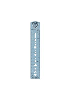 Designworks Ink Bullet Template Ruler Bookmark Blue