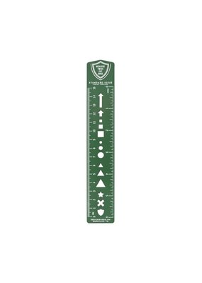 Designworks Ink Bullet Template Ruler Bookmark Green