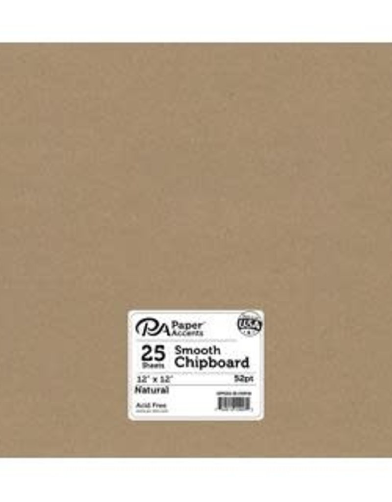 Paper Accents Chipboard 12 x 12   Heavy Weight 52 Point Natural