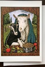 Kathleen Powers Card Santa Elsa Y Cabrito