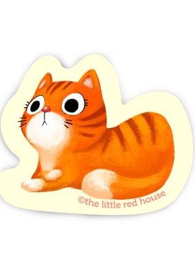 The Little Red House Sticker Orange Cat