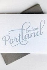 Steel Petal Press Card Love from Portland