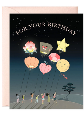 joo joo paper Card Lanterns Birthday