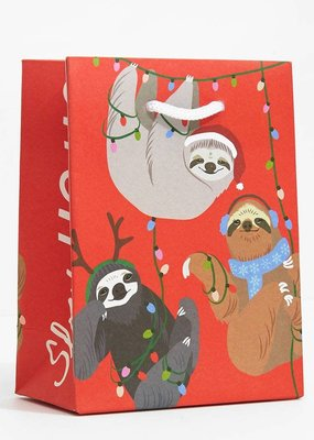 Waste Not Holiday Sloth Medium Gift Bag