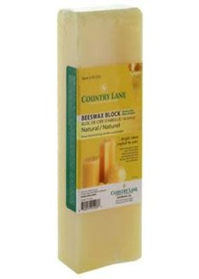 Country Lane Beeswax Block 1lb Natural