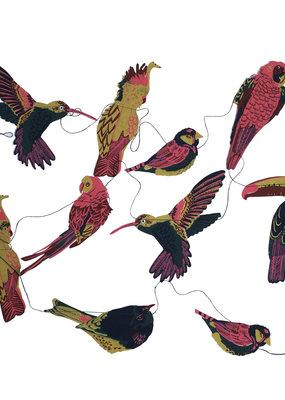 East End Press Paper Garland Tropical Birds