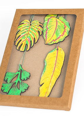 East End Press Wooden Ornaments Leaves