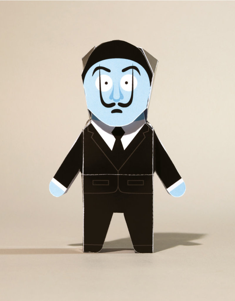 Chatty Feet Character Paper Model Fold-Vador Dali