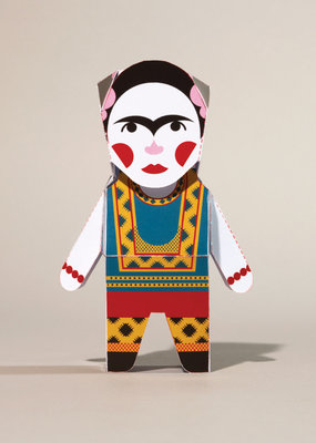 Chatty Feet Character Paper Model Frida Card-o