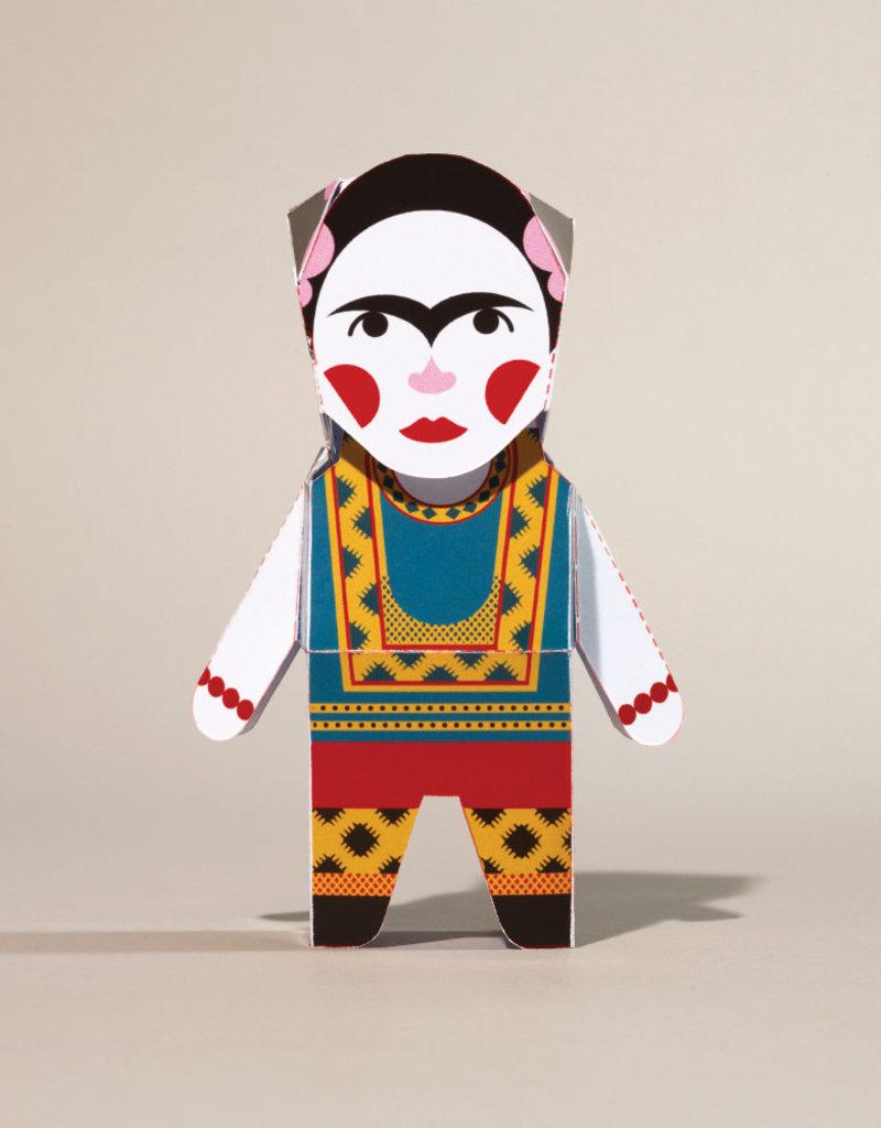 Chatty Feet Character Paper Model Frida Card-o