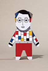 Chatty Feet Character Paper Model Papier Mondrian