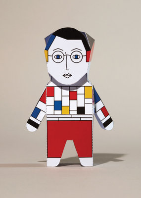 Chatty Feet Character Paper Model Papier Mondrian