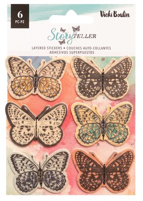 Vicki Boutin Stickers Layered Butterflies