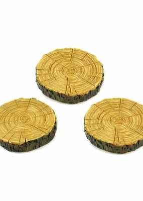 Touch of Nature Resin Tree Stepping Stones 1 Inch Set of 3