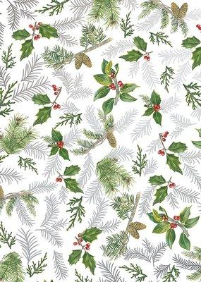 Jillson & Roberts Gift Wrap Roll  Glistening Pine