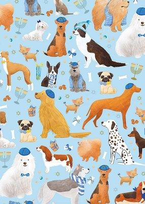 Jillson & Roberts Gift Wrap Jumbo Roll Yamaka Dog