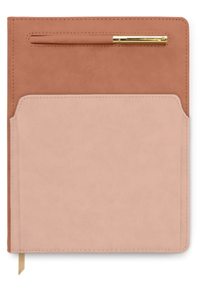 Designworks Ink Pocket Journal Terracotta Blush Vegan Leather