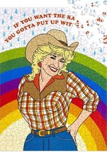 The Found Puzzle Cowgirl Rainbow