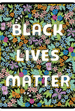 The Found Sticker Black Lives Matter Floral Square