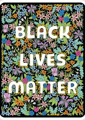 The Found Sticker Black Lives Matter Floral Square